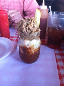 A glorious BBQ sundae