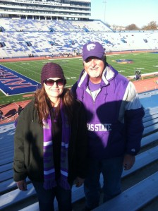 With my dad in enemy territory